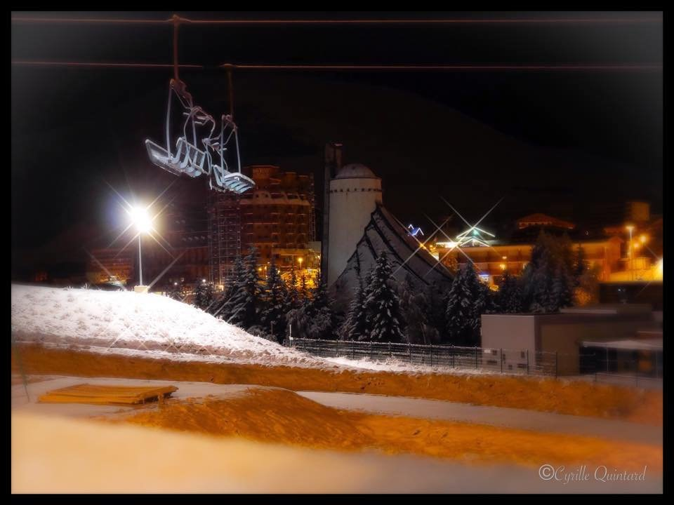 Snowing all night in Alpe d'Huez Nov. 15, 2014