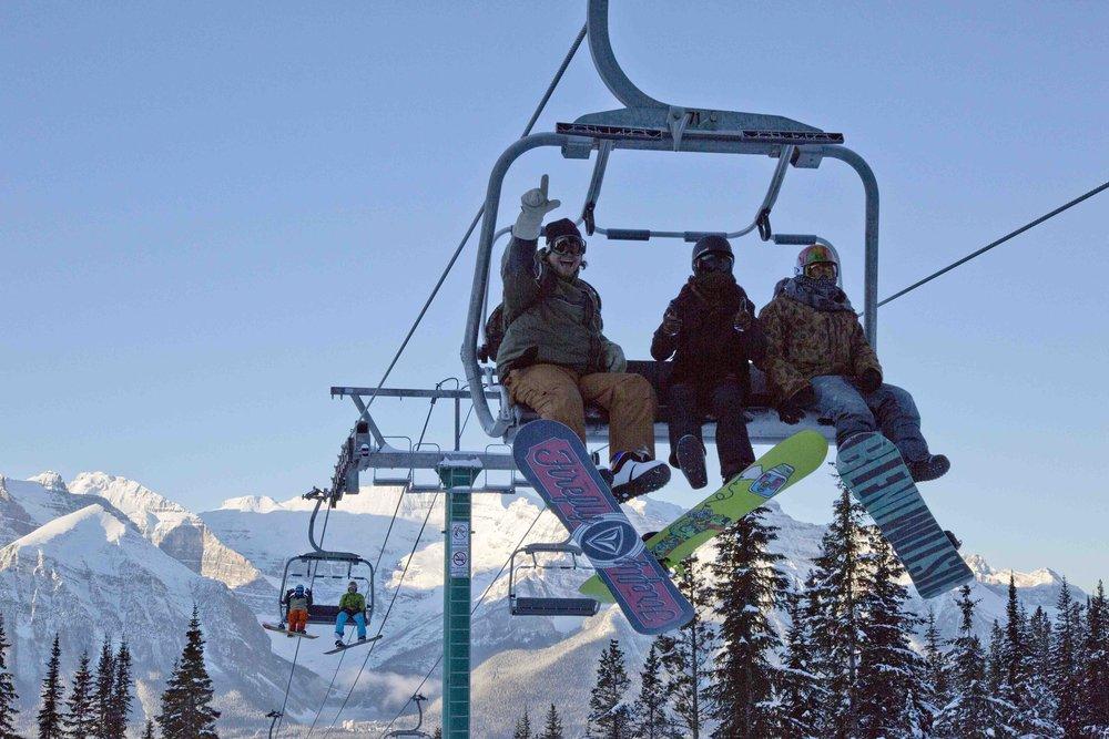 Opening day Nov. 13, 2014 at Lake Louise Ski Area in Banff. - ©Chris Moseley