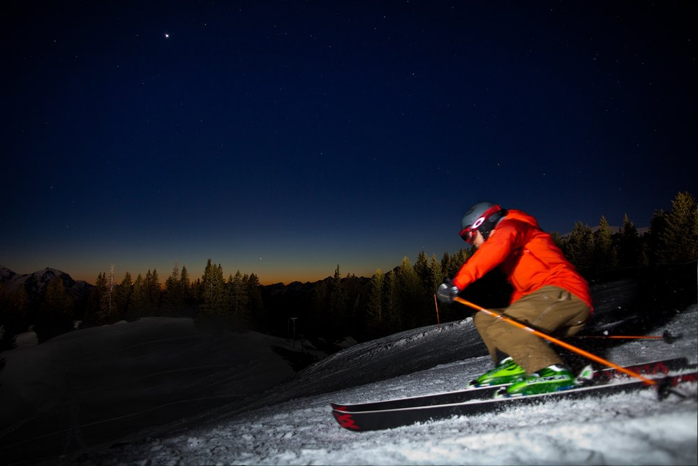 Skiing at Night - ©David Birri