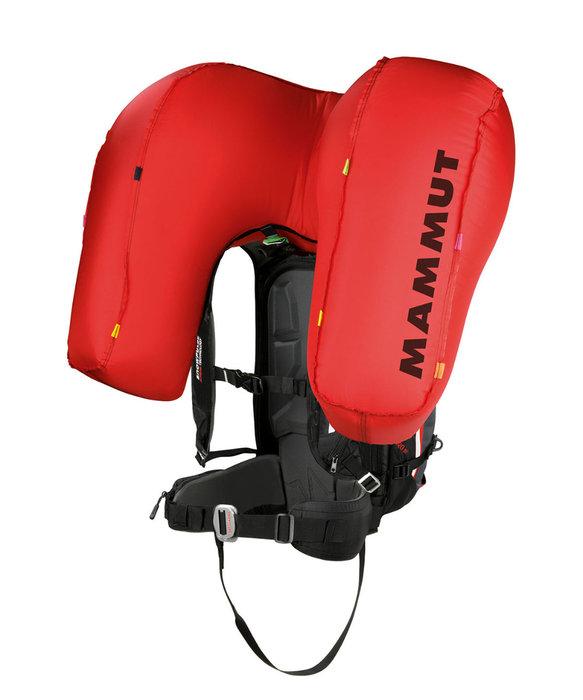 Sac ABS Snowpulse : déclenchement par câble qui gonfle un seul ballon qui a la forme d'un « U » de 150 litres autour de la tête. Cette forme est étudiée pour faire flotter le skieur la tête en haut, pour éviter l'asphyxie et être mieux protégée. Le système est amovible et s'installe ou se retire très facilement.