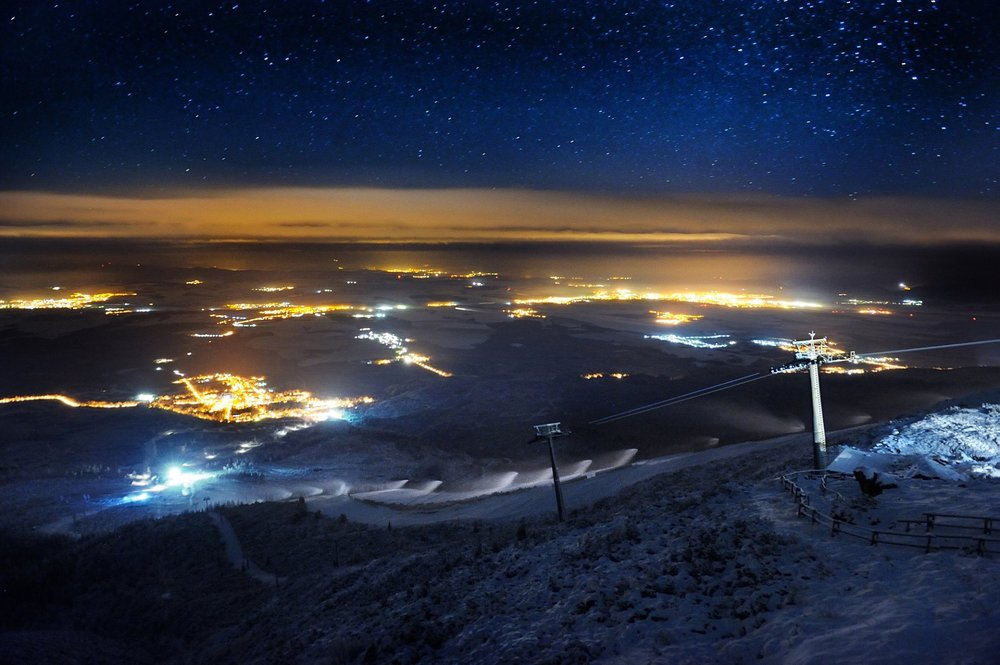 Wonderful night view from Skalnate pleso, High Tatras - Nov 26, 2014