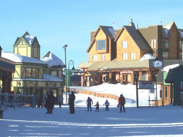 A view of the town at Big White Ski Resort, B.C.