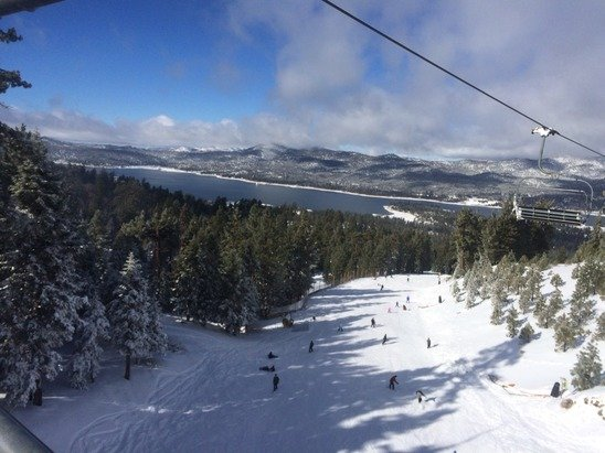 Great day Saturday.  Crowds weren't too bad considering they only had 2 lifts open.  The snow was in great shape.