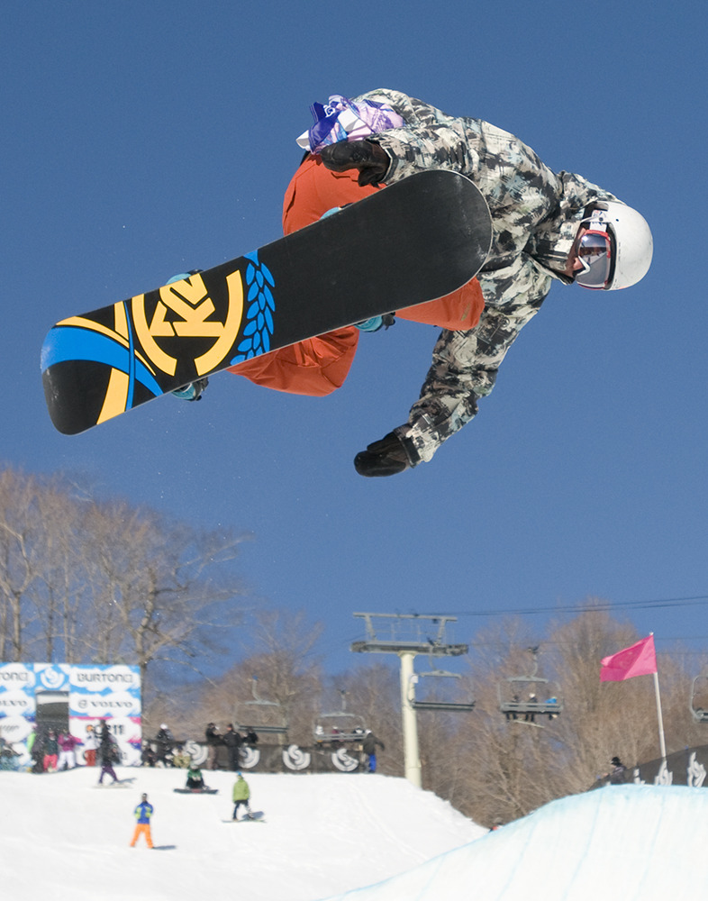 Ross Baker on half-pipe, Burton US Open 2009 at Stratton