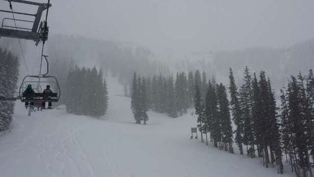 Sunday was amazing. they just opened up the backside around noon. Powder!!!!