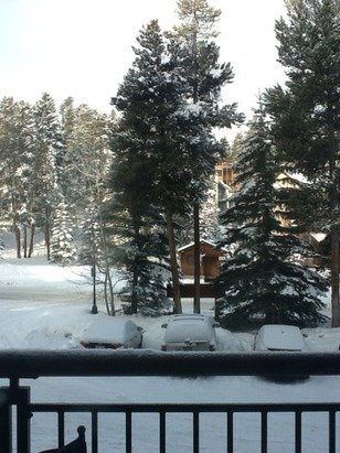 It has been snowing this morning.  The big snow is on the way.  It will come in on Sunday.  Many feet of snow possible.