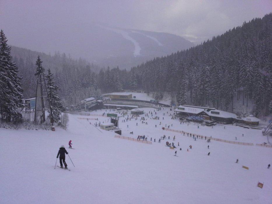 Špindlerův Mlýn, Czech Rep - Dec 21, 2014 - ©facebook.com/skiareal.cz