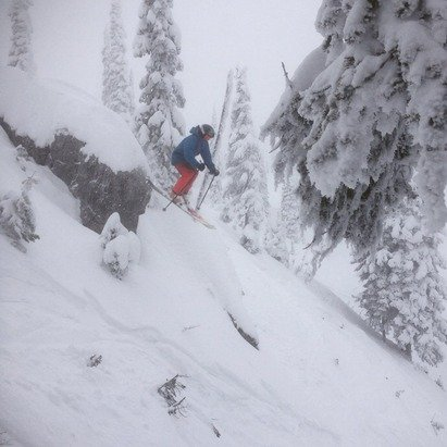 Sunday was awesome with close to a foot in some spots.  First face shots of the year .  The drought is over!