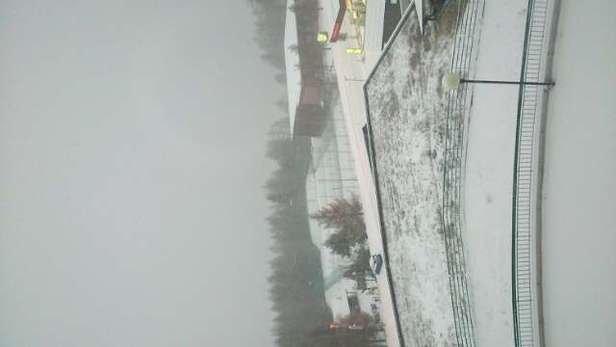 it's snowing :-)