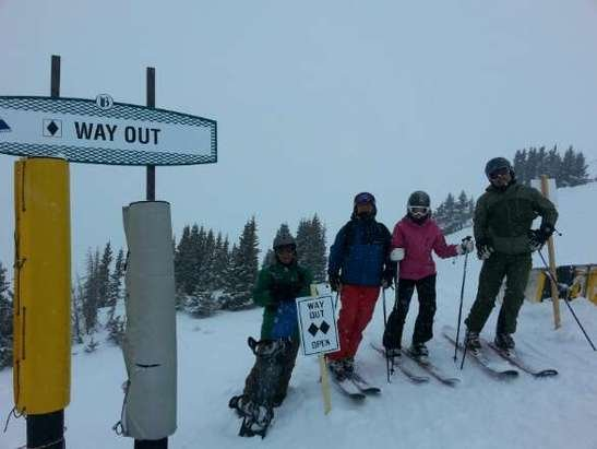 way out was open on Friday. soft and powdery.