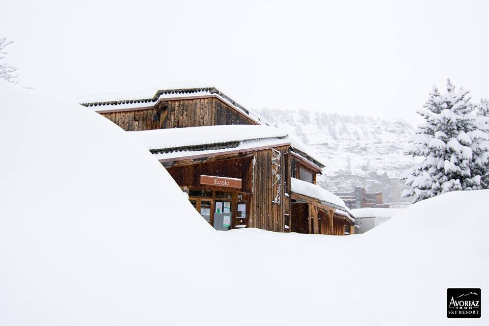 60cm of fresh snow in Avoriaz Dec. 28, 2014 - ©Avoriaz