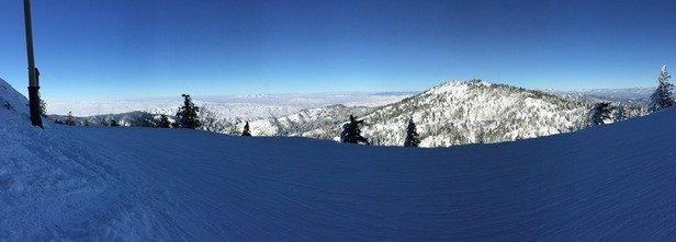 Bluebird day with the backside featuring some nice, unpopulated runs.