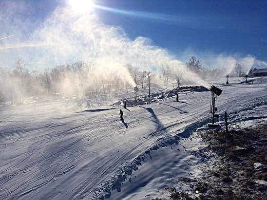 14 of 18 trails open today at our mountain! Upper Polar Bear, Lower Polar Bear, Screamin' Demon and Devil's Bowl are still closed.