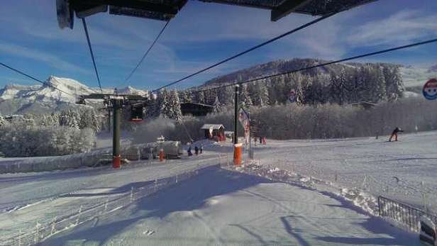 I've been there last Sunday. Perfect skiing conditions