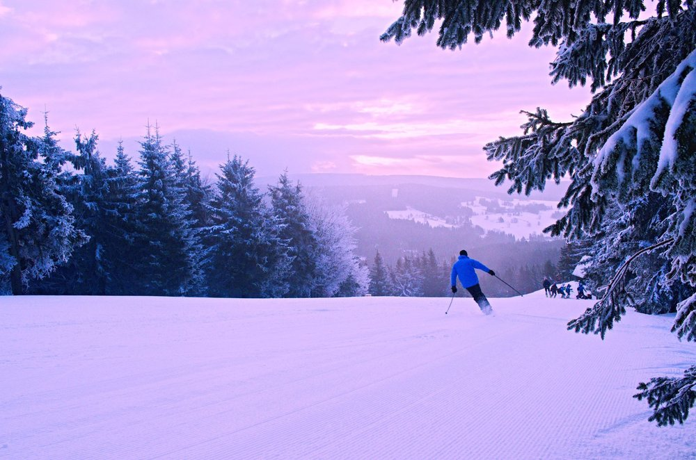 Sunrise in skiresort Ricky, Czech Republic - ©facebook.com/skicentrumricky