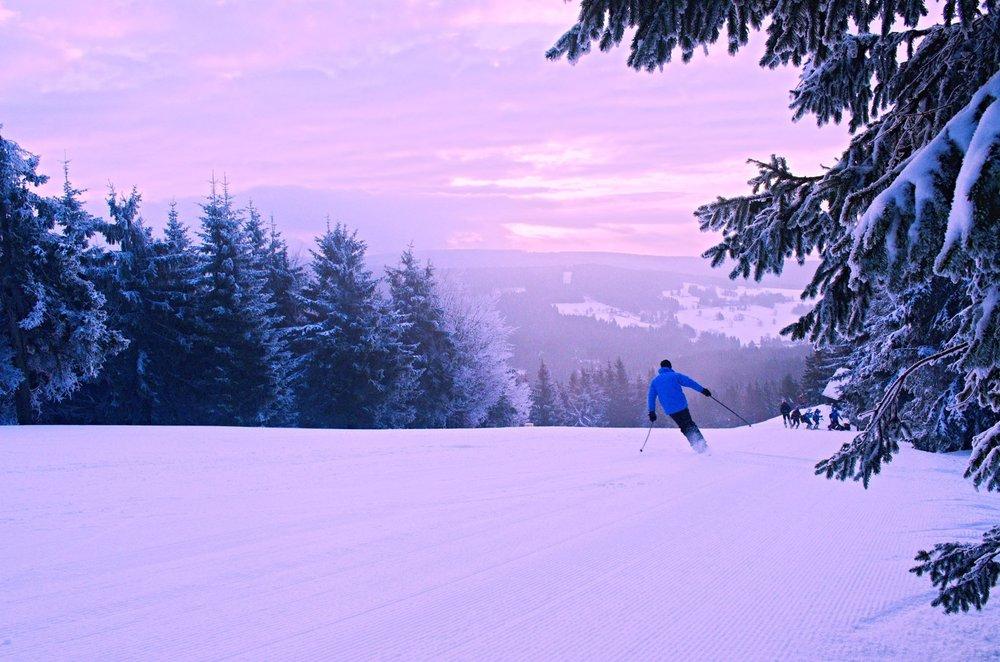 Sunrise in skiresort Ricky, Czech Republic - ©facebook.com/skicentrumricky
