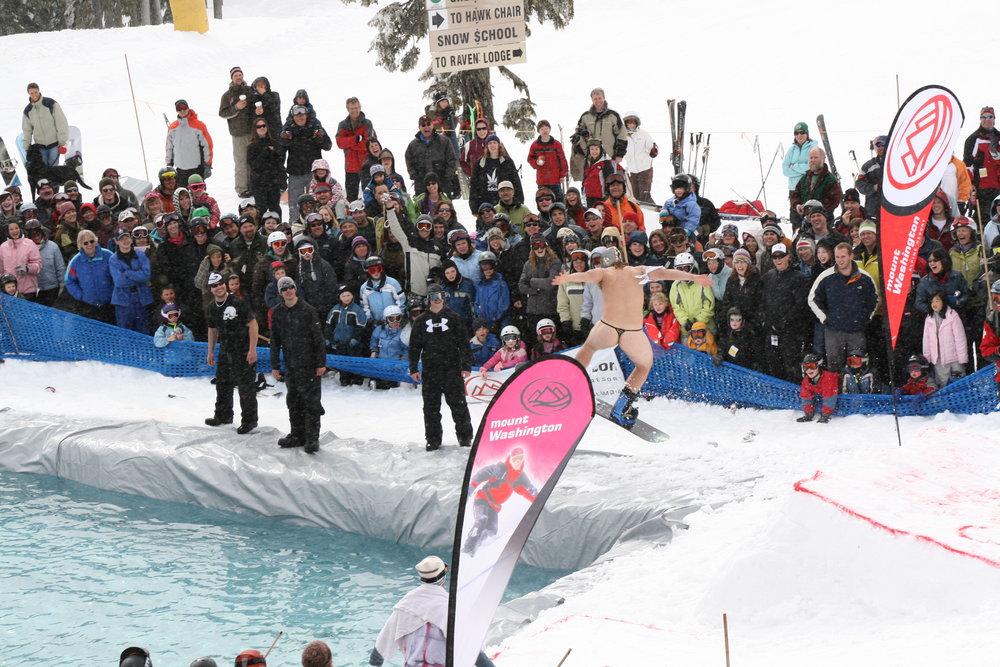 The Slush Jump at Mount Washington Alpine Resort .