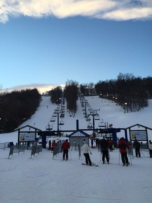 Great night!! Much better snow than I expected. A bit icy on the double blacks with moguls. Overall very good