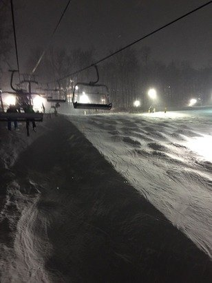 Great skiing tonight! Short lines at the lifts - this may be the end to skiing on weekends.