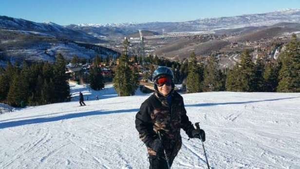 Great day of skiing at Deer Valley. Not crowded and alot of sun. My grandson's first intermediate run!!