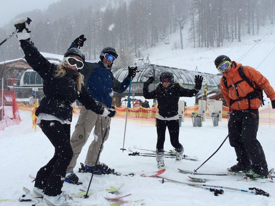 La  neige fait un retour marqué au Val d'Allos - ©Office de Tourisme du Val d'Allos