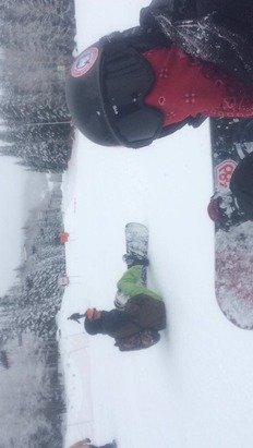 Today was legit, snowed all afternoon and the Terrain park was dopee