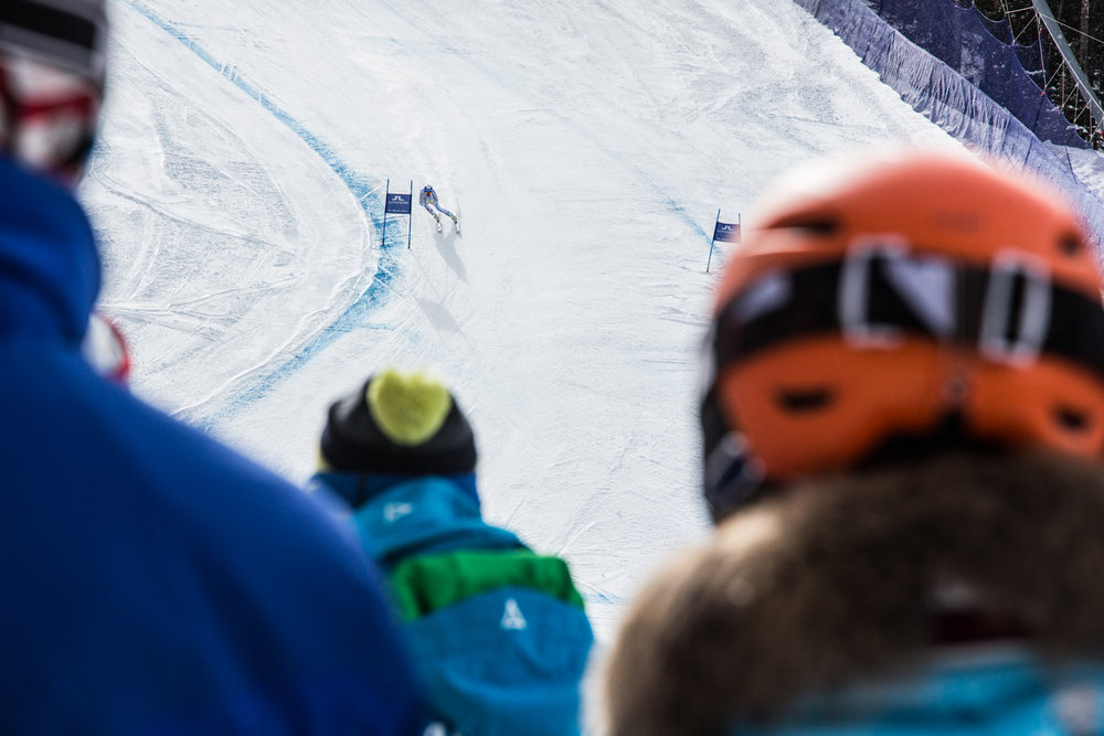 Women's super-G on the Raptor Course, World Championships day #1. - ©Liam Doran