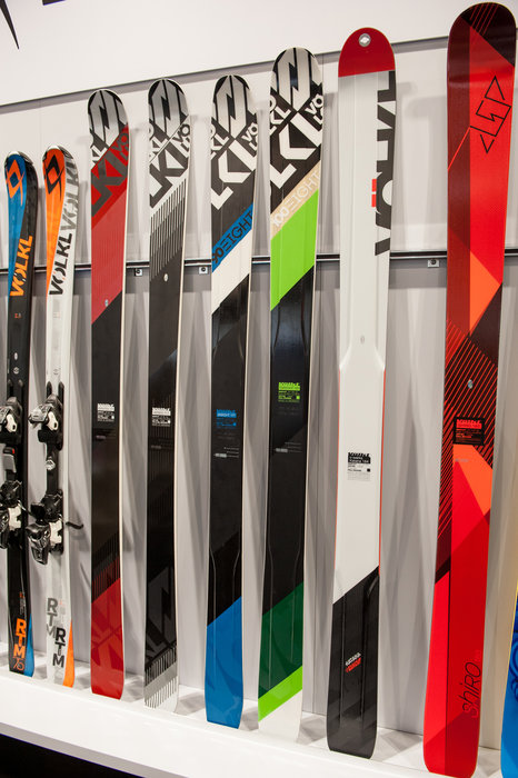 Part of the 2016 lineup from Völkl, the 100Eight is a new lightweight, playful all-mountain freeride ski with 3D.RIDGE construction that Völkl originally debuted on the V-WERKS Katana. - © Ashleigh Miller Photography