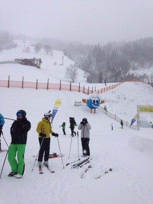 Still snowing hard!