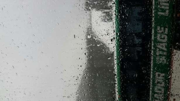 snowing and good powder at top, raining and nasty wet slush at bottom.