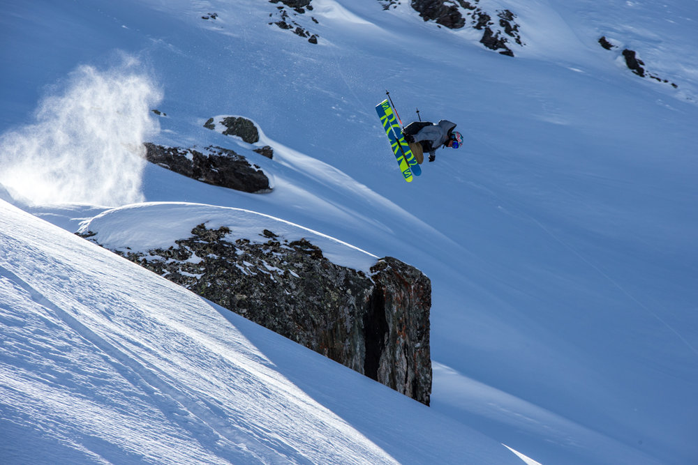 Bobby Brown gets elevated in the Monterosa off-piste. - ©Liam Doran/MSP