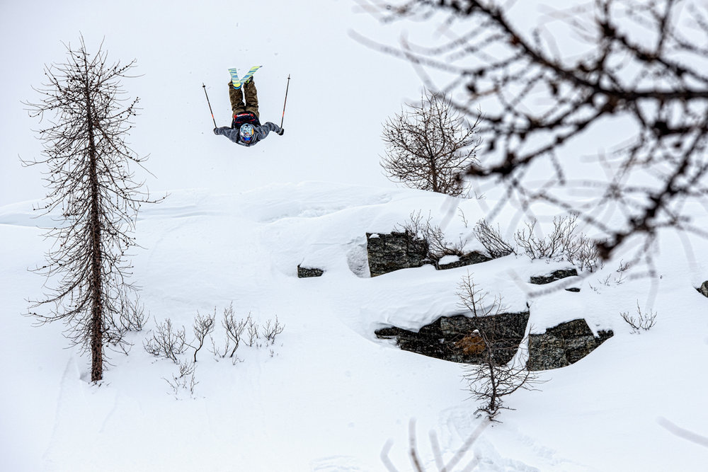 What snowy tree lap would be complete without a flip?  - ©Liam Doran/MSP