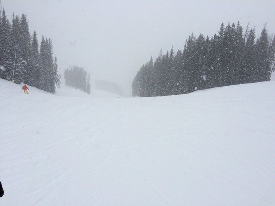 Vail - Lots of powder!! Lower slopes had snow over ice but overall great day in Vail. Snowed all day and still coming down!! Keep doing that snow dance!!!