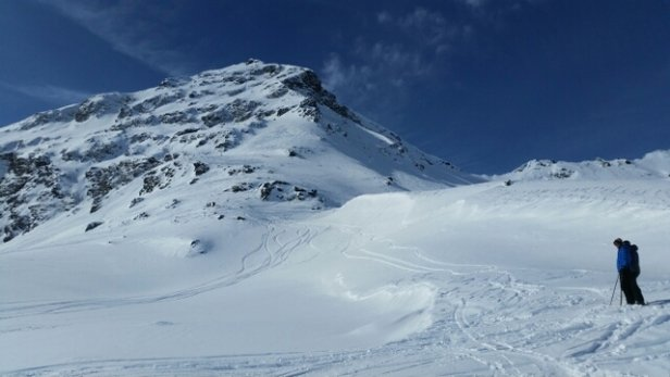 Silvretta Montafon - Absolutely beautiful day on the mountain Saturday. Slopes were in great shape and plenty of deep wet powder to be found.  - ©Tweek
