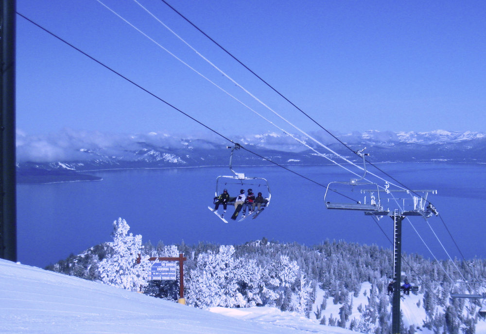 Heavenly Mountain Resort overlooks Lake Tahoe.