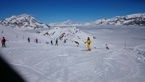 Tignes - Great skiing up high, soft lower down.