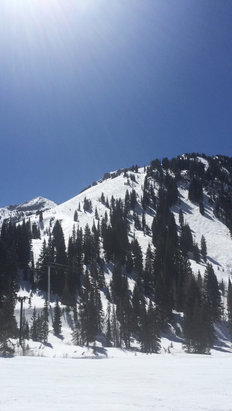 Alta Ski Area - Great day for Spring skiing at Alta Utah.