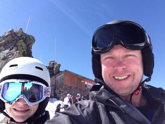 Brian Head Resort - Icy as hell unless on groomed runs but still effing great