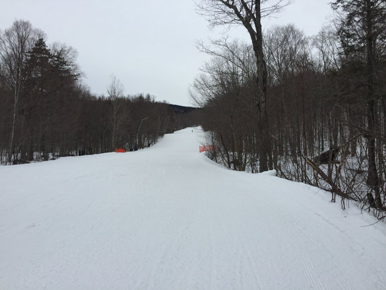 Tremblant - Great conditions for april. Windy on north side