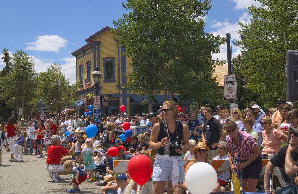 Independence Day visitors to Breckenridge. Image by Katie Kirtman.
