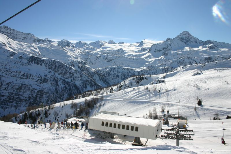 A lift station at La Thuile, Italy.