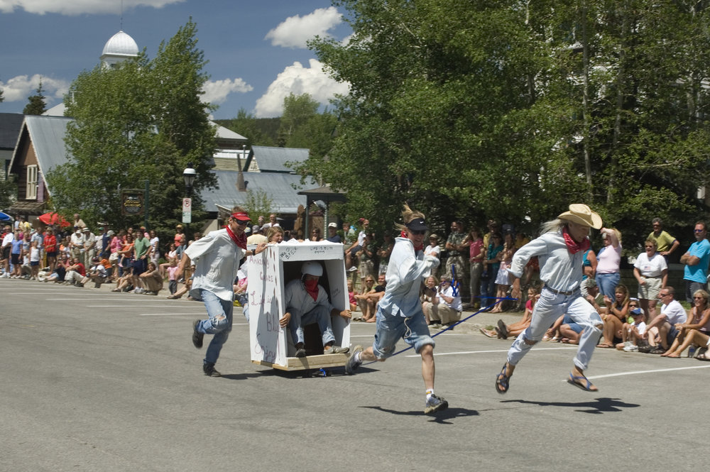 The Outhouse Race at Breckenridge Kingdom Days. Image by Carl Scofield.