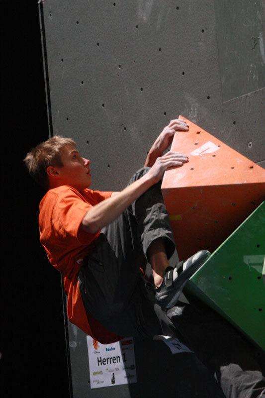 Alex Megos boulderte auf Rang drei - ©bergleben.de