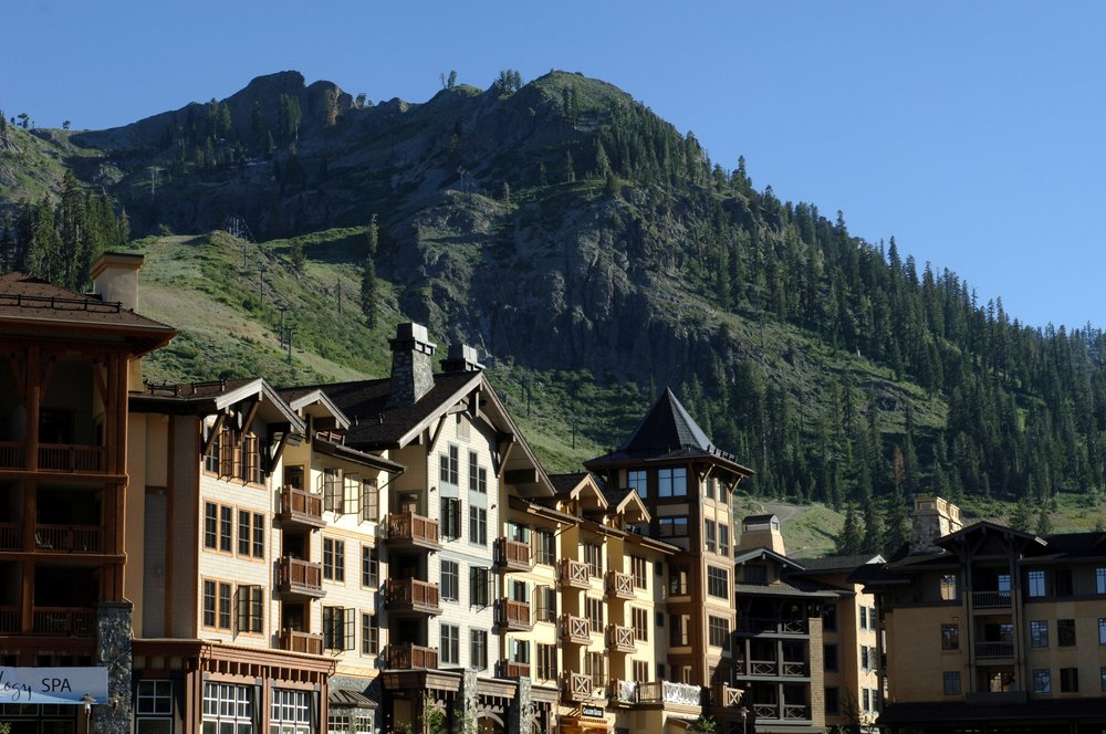 The Village at Squaw Valley in summer.