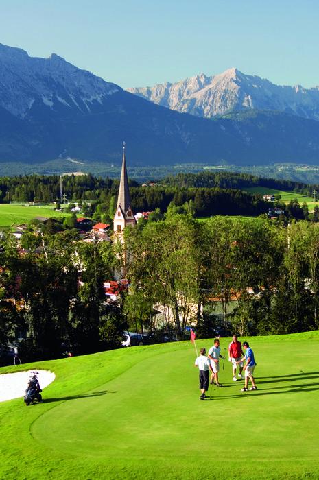 Golf Course Rinn near Innsbruck