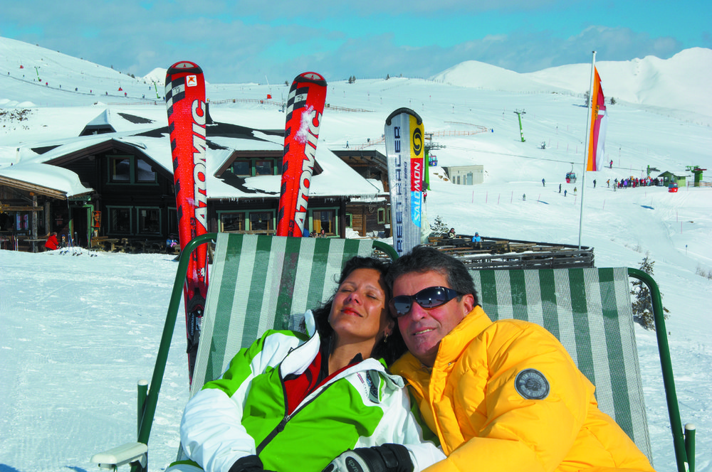 Couple sunning at Bad Kleinkirchheim