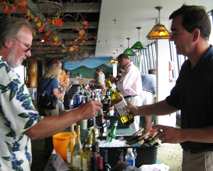 Tasters at the Killington Wine Festival, Vermont
