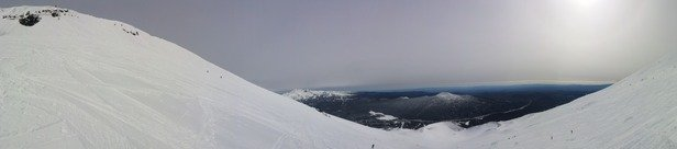 Mt. Bachelor - Awesome day today at Bachelor. Truly excellent considering how crazy this winter has been in the PNW. Come and get it while it lasts. And stay at Tetherow, excellentt lodging 20 minutes from the ski area.