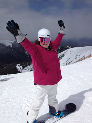 Arapahoe Basin Ski Area - It's my birthday and I got to ride wonderful condition today.