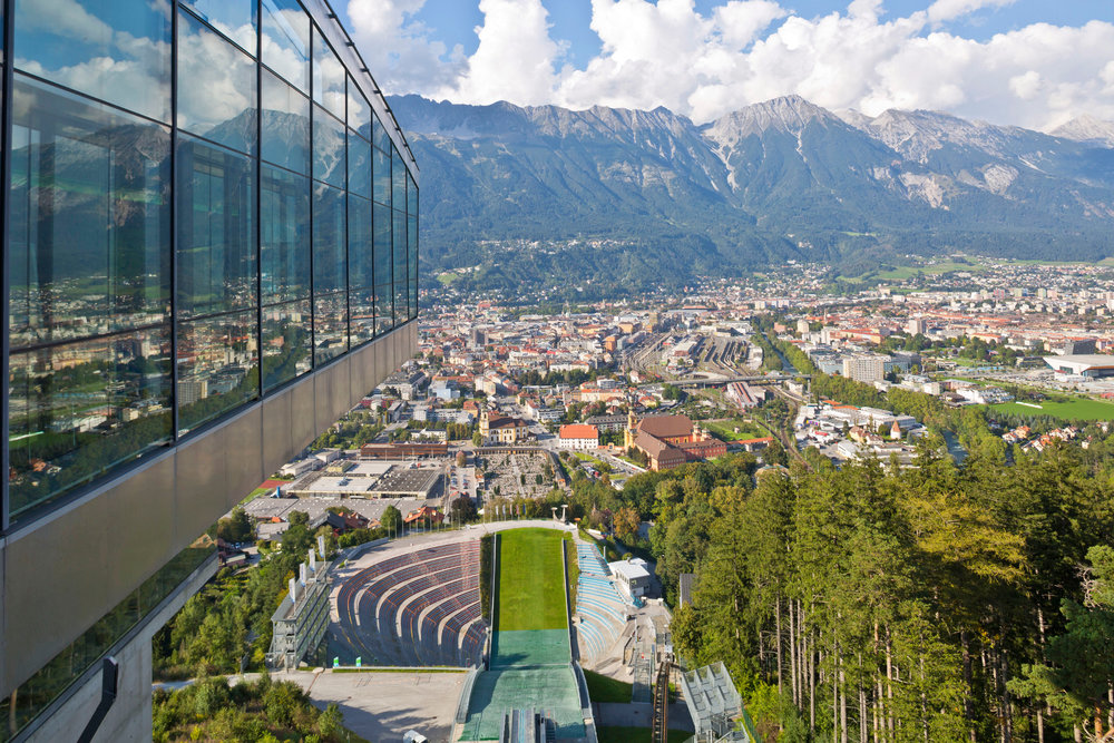 Blick von der Bergisel Schanze auf Innsbruck - ©Innsbruck Tourismus